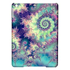 Violet Teal Sea Shells, Abstract Underwater Forest Apple iPad Air Hardshell Case