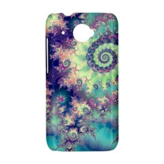 Violet Teal Sea Shells, Abstract Underwater Forest HTC Desire 601 Hardshell Case