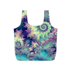 Violet Teal Sea Shells, Abstract Underwater Forest Full Print Recycle Bag (s)