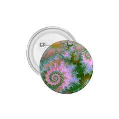 Rose Forest Green, Abstract Swirl Dance 1.75  Button