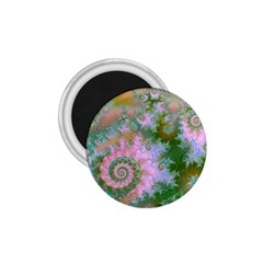 Rose Forest Green, Abstract Swirl Dance 1 75  Button Magnet