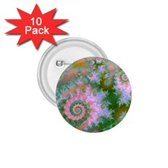 Rose Forest Green, Abstract Swirl Dance 1 75  Button (10 Pack)