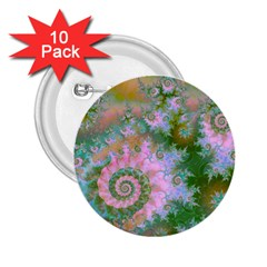 Rose Forest Green, Abstract Swirl Dance 2.25  Button (10 pack)