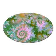 Rose Forest Green, Abstract Swirl Dance Magnet (Oval)