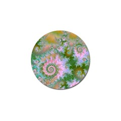 Rose Forest Green, Abstract Swirl Dance Golf Ball Marker 10 Pack
