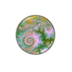 Rose Forest Green, Abstract Swirl Dance Golf Ball Marker (for Hat Clip)