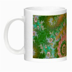 Rose Forest Green, Abstract Swirl Dance Glow in the Dark Mug