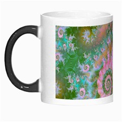 Rose Forest Green, Abstract Swirl Dance Morph Mug