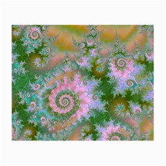 Rose Forest Green, Abstract Swirl Dance Glasses Cloth (small)