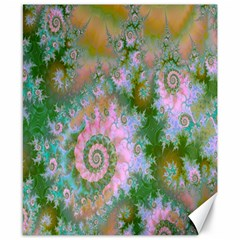 Rose Forest Green, Abstract Swirl Dance Canvas 8  x 10  (Unframed)