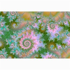 Rose Forest Green, Abstract Swirl Dance Canvas 12  x 18  (Unframed)