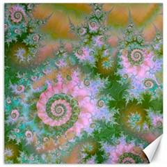 Rose Forest Green, Abstract Swirl Dance Canvas 16  x 16  (Unframed)