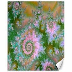 Rose Forest Green, Abstract Swirl Dance Canvas 16  x 20  (Unframed)