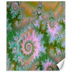 Rose Forest Green, Abstract Swirl Dance Canvas 20  X 24  (unframed)