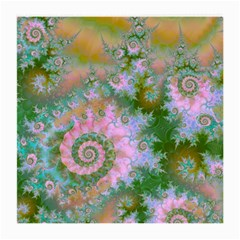 Rose Forest Green, Abstract Swirl Dance Glasses Cloth (Medium, Two Sided)