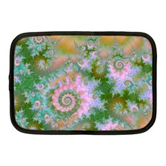 Rose Forest Green, Abstract Swirl Dance Netbook Sleeve (Medium)