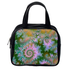 Rose Forest Green, Abstract Swirl Dance Classic Handbag (one Side)