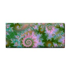 Rose Forest Green, Abstract Swirl Dance Hand Towel