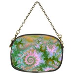 Rose Forest Green, Abstract Swirl Dance Chain Purse (One Side) Front