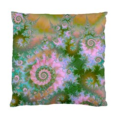 Rose Forest Green, Abstract Swirl Dance Cushion Case (Two Sided)