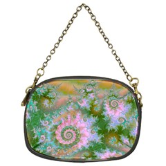 Rose Forest Green, Abstract Swirl Dance Chain Purse (Two Sided)