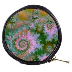 Rose Forest Green, Abstract Swirl Dance Mini Makeup Case