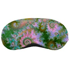 Rose Forest Green, Abstract Swirl Dance Sleeping Mask