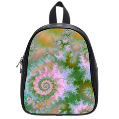 Rose Forest Green, Abstract Swirl Dance School Bag (Small)