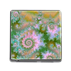 Rose Forest Green, Abstract Swirl Dance Memory Card Reader with Storage (Square)
