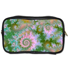 Rose Forest Green, Abstract Swirl Dance Travel Toiletry Bag (one Side)