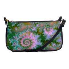 Rose Forest Green, Abstract Swirl Dance Evening Bag