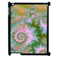 Rose Forest Green, Abstract Swirl Dance Apple Ipad 2 Case (black)