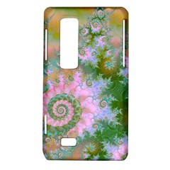 Rose Forest Green, Abstract Swirl Dance LG Optimus 3D P920 / Thrill 4G P925 Hardshell Case