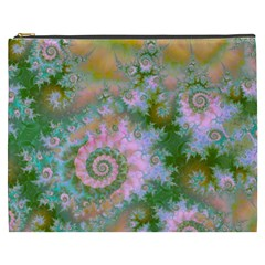 Rose Forest Green, Abstract Swirl Dance Cosmetic Bag (XXXL)