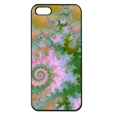 Rose Forest Green, Abstract Swirl Dance Apple Iphone 5 Seamless Case (black)