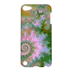 Rose Forest Green, Abstract Swirl Dance Apple Ipod Touch 5 Hardshell Case