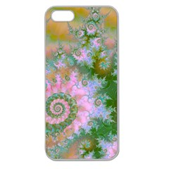 Rose Forest Green, Abstract Swirl Dance Apple Seamless Iphone 5 Case (clear)