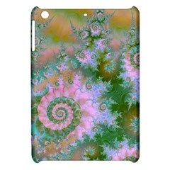 Rose Forest Green, Abstract Swirl Dance Apple iPad Mini Hardshell Case