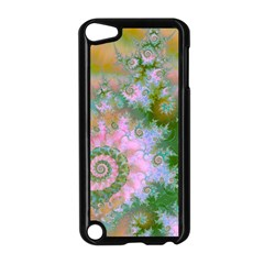 Rose Forest Green, Abstract Swirl Dance Apple iPod Touch 5 Case (Black)