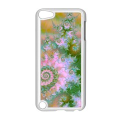 Rose Forest Green, Abstract Swirl Dance Apple iPod Touch 5 Case (White)