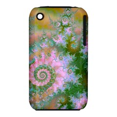 Rose Forest Green, Abstract Swirl Dance Apple iPhone 3G/3GS Hardshell Case (PC+Silicone)