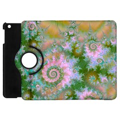 Rose Forest Green, Abstract Swirl Dance Apple iPad Mini Flip 360 Case
