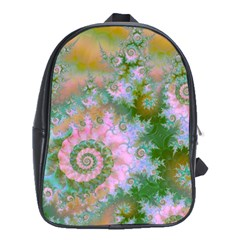 Rose Forest Green, Abstract Swirl Dance School Bag (XL)