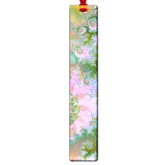 Rose Forest Green, Abstract Swirl Dance Large Bookmark