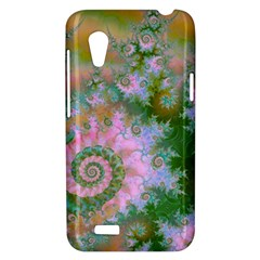 Rose Forest Green, Abstract Swirl Dance HTC Desire VT (T328T) Hardshell Case