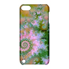 Rose Forest Green, Abstract Swirl Dance Apple Ipod Touch 5 Hardshell Case With Stand