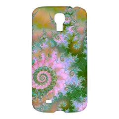 Rose Forest Green, Abstract Swirl Dance Samsung Galaxy S4 I9500/I9505 Hardshell Case
