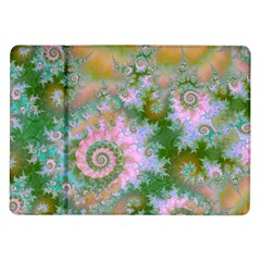 Rose Forest Green, Abstract Swirl Dance Samsung Galaxy Tab 10.1  P7500 Flip Case
