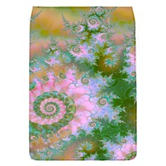 Rose Forest Green, Abstract Swirl Dance Removable Flap Cover (small)