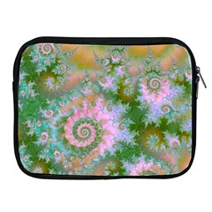 Rose Forest Green, Abstract Swirl Dance Apple iPad Zippered Sleeve